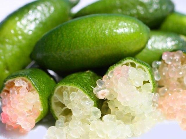 Caviar cítrico fruto